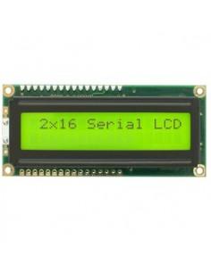 LCD 2x16 Green/Yellow