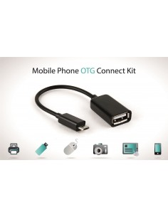 USB Female to micro Mobile phone OTG Connect Kit