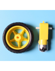 Robot Wheel + DC Motor(1set)