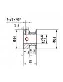 GT2 Pulley (5mm Bore / 16 Teeth / 9mm Belt)