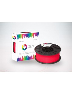 ZEN 3D Filament PLA 1.75mm Flurescence Red - 1kg Spool