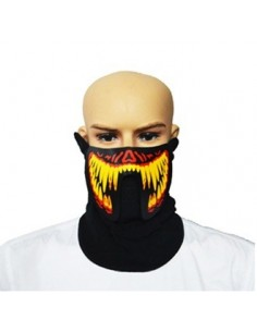 EL Mask - Yellow Red Monster Teeth