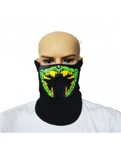 EL Mask - Green Yellow Monster Teeth
