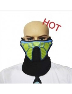 EL Mask - Funky Green and blue