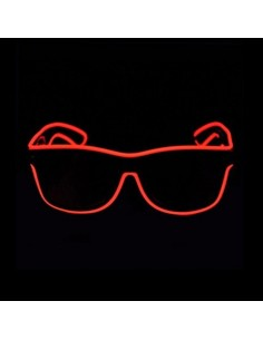EL Glasses (Black frame & Red wire)