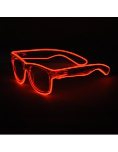 EL Glasses (White Frame & Orange wire)