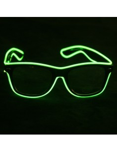 EL Glasses (Black frame & Lime Green wire)