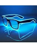 EL Glasses (Black Frame & Aqua Wire)