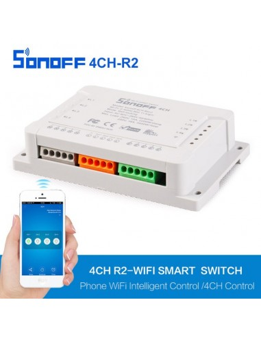 Sonoff 4CH R2 - 4-Gang Switches with din rail mounting