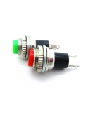 Round Push Button (Green and Red) - 2 Pack