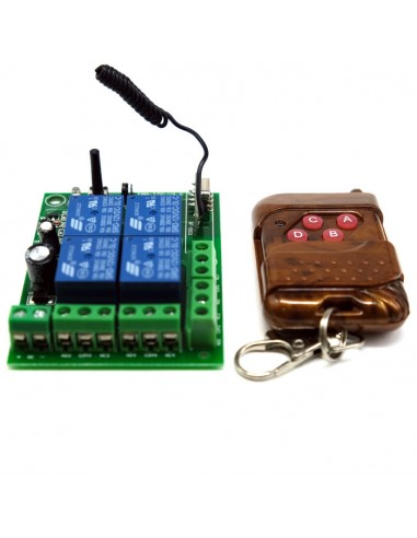 4 Channels Relay Remote Module (12V)