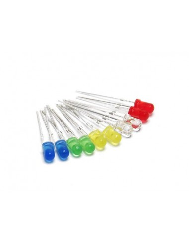 LED 3mm (10 Pack Assorted Colours)