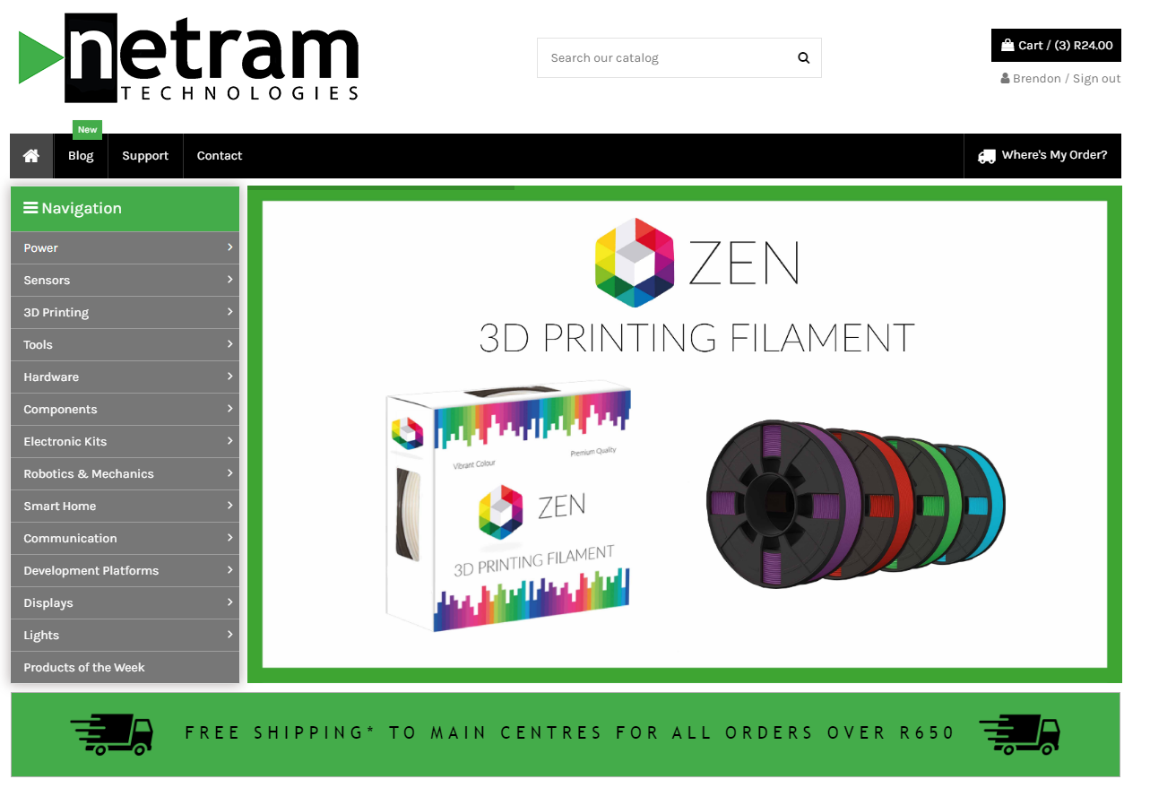 Netram Technologies Home Page